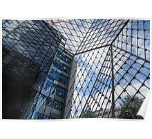 Indoors Outdoors Sky Geometry - Fabulous Modern Architecture in London, UK Poster