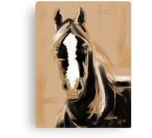 Horse Paint White Canvas Print