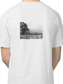 Snow Scene on Glencoe, Scotland #1 Classic T-Shirt