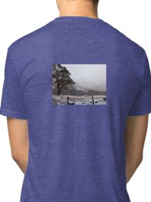 Snow Scene on Glencoe, Scotland #1 Tri-blend T-Shirt