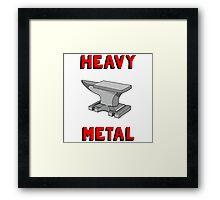 Heavy Metal Funny Anvil Framed Print