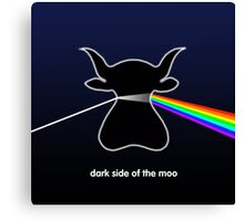 Dark Side of the Moo - T shirt Canvas Print