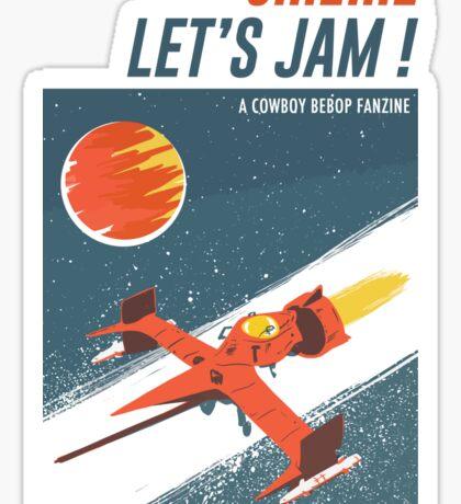 Let's Jam - Cowboy Bebop Sticker