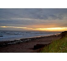 Day's ending at Cavendish Beach Photographic Print