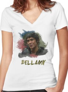 Bellamy - The 100 Women's Fitted V-Neck T-Shirt