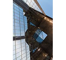 Glass, Copper and Steel Geometry - Fabulous Modern Architecture in London, UK - Vertical Photographic Print