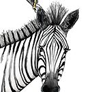 The zebra with the bee by Jenny Wood
