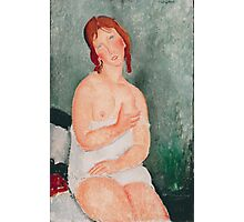 Amedeo Modigliani - Young Woman in a Shirt  Woman Portrait Fashion Italian Photographic Print