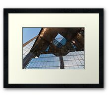Glass, Copper and Steel Geometry - Fabulous Modern Architecture in London, UK - Horizontal  Framed Print