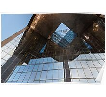 Glass, Copper and Steel Geometry - Fabulous Modern Architecture in London, UK - Horizontal  Poster