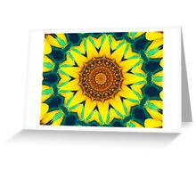 Fun Sunflower Abstract Greeting Card