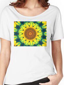 Fun Sunflower Abstract Women's Relaxed Fit T-Shirt