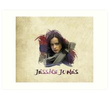 Jessica Jones - Brush Art Print