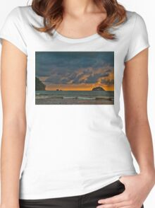 Costa Rica. Manuel Antonio NP. Sunset. Women's Fitted Scoop T-Shirt