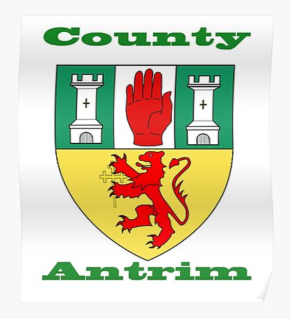 County Antrim Coat of Arms Poster