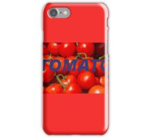 tomatoes background iPhone Case/Skin