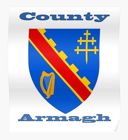 County Armagh Coat of Arms Poster