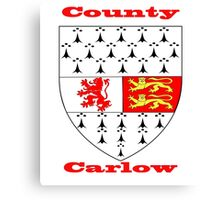 County Carlow Coat of Arms Canvas Print