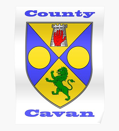 County Cavan Coat of Arms Poster