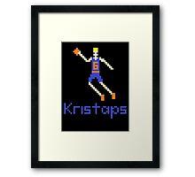 Kristaps Pixel Framed Print