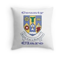County Clare Coat of Arms Throw Pillow