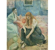 Berthe Morisot - Two Girls 1894 Woman Portrait  Photographic Print