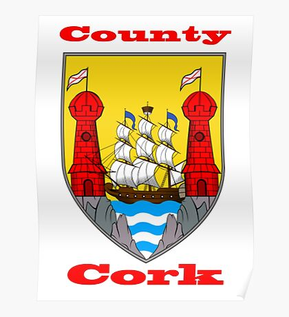 County Cork Coat of Arms Poster