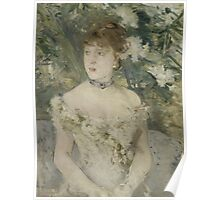 Berthe Morisot - Young Girl in a Ball Gown 1879 Woman Portrait Fashion Poster