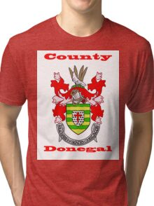 County Donegal Coat of Arms Tri-blend T-Shirt