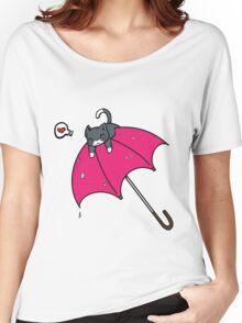 Cat's umbrella Women's Relaxed Fit T-Shirt