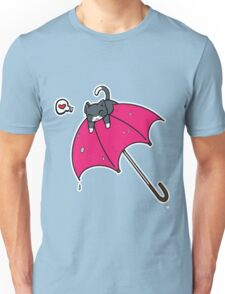 Cat's umbrella Unisex T-Shirt