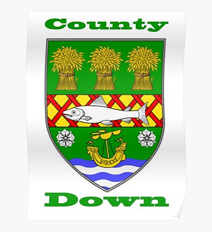 County Down Coat of Arms Poster