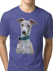 Low Poly Art - Whippet Tri-blend T-Shirt