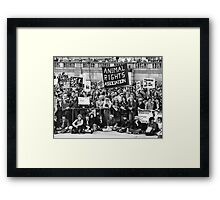Animal rights protest, London Framed Print