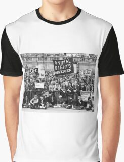 Animal rights protest, London Graphic T-Shirt