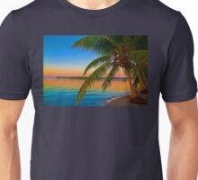 Guatemala. Atlantic Coast. Palm Tree. Sunset. Unisex T-Shirt