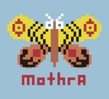 Mothra Pixel One Piece - Short Sleeve