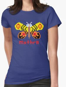 Mothra Pixel Womens Fitted T-Shirt