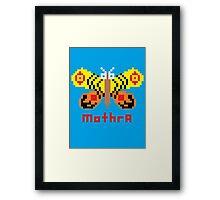 Mothra Pixel Framed Print