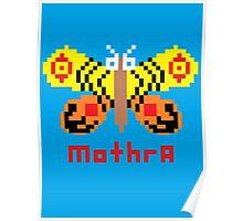 Mothra Pixel Poster