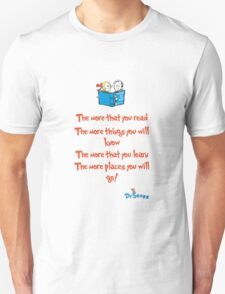 The more you read Unisex T-Shirt