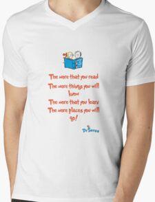The more you read Mens V-Neck T-Shirt