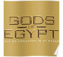 Gods of Egypt the movie logo - all of creation is at stake Poster