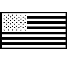 American Flag, NEGATIVE, America, Americana, on black, Stars & Stripes, Pure & Simple, USA Photographic Print