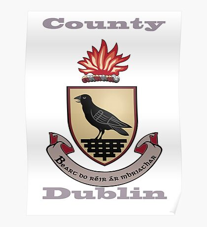 County Dublin Coat of Arms Poster