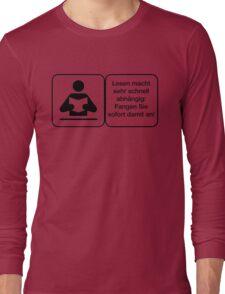 Vector Warnung Deutsch Lesen Abhängig Long Sleeve T-Shirt