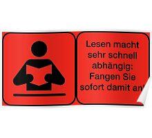 Vector Warnung Deutsch Lesen Abhängig Poster