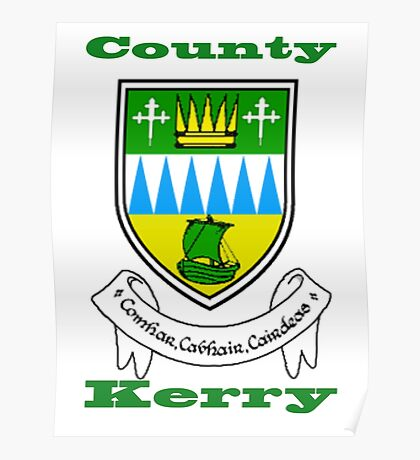 County Kerry Coat of Arms Poster