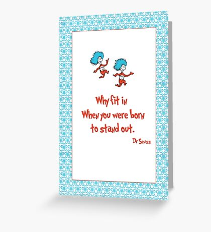 Why Fit In Greeting Card