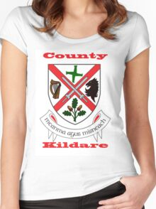 County Kildare Coat of Arms Women's Fitted Scoop T-Shirt